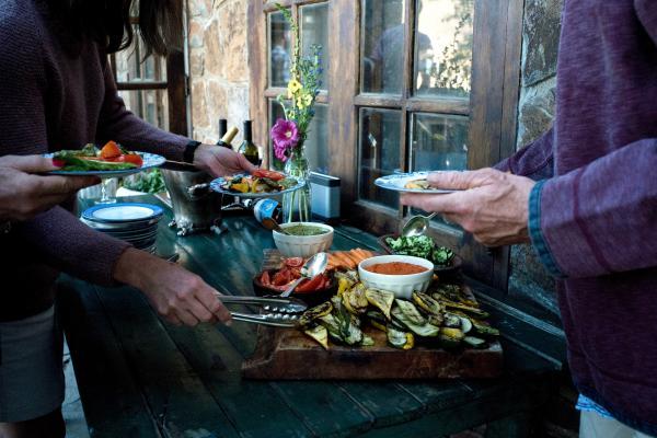Farm-to-table cuisine at Estancia Ranquilco