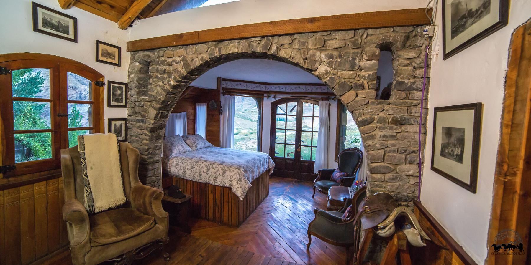 Image of the handcrafted stonework accommodation - The Castle Room
