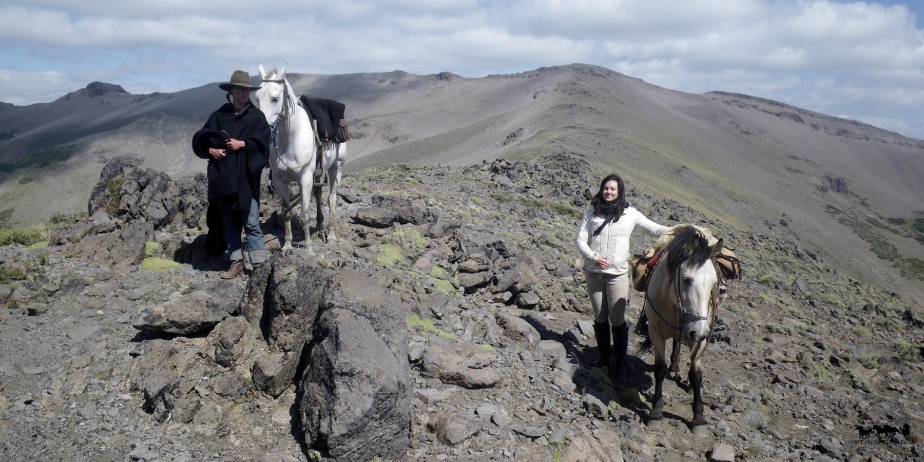 Horseback on a high pass in the Andes