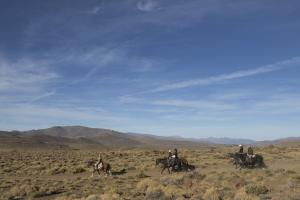 riders in the Andes of Patagonia