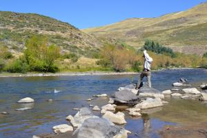 Fish on! fly fishing in Patagonia