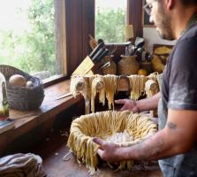 homemade pasta in Argentina at Estancia Ranquilco
