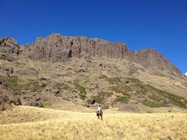 Horse pack trip in the Andes in Patagonia