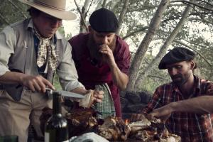 cooking with gauchos on a ranch holiday in Patagonia