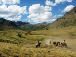 Horseback riding through the Andes at Estancia Ranquilco in Argentina