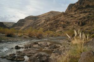 Fly fishing at Estancia Ranquilco in Patagonia Argentina