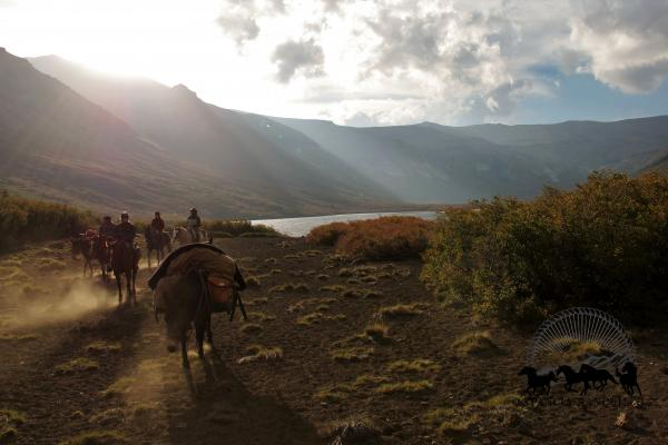 evening light on a pack trip in Patagonia